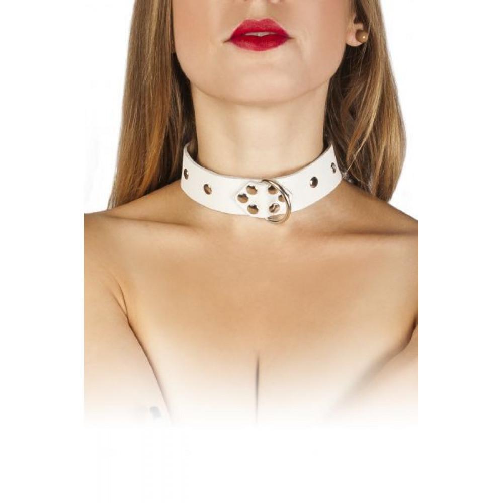 БДСМ ошейники - Ошейник  Dominant Collar, WHITE