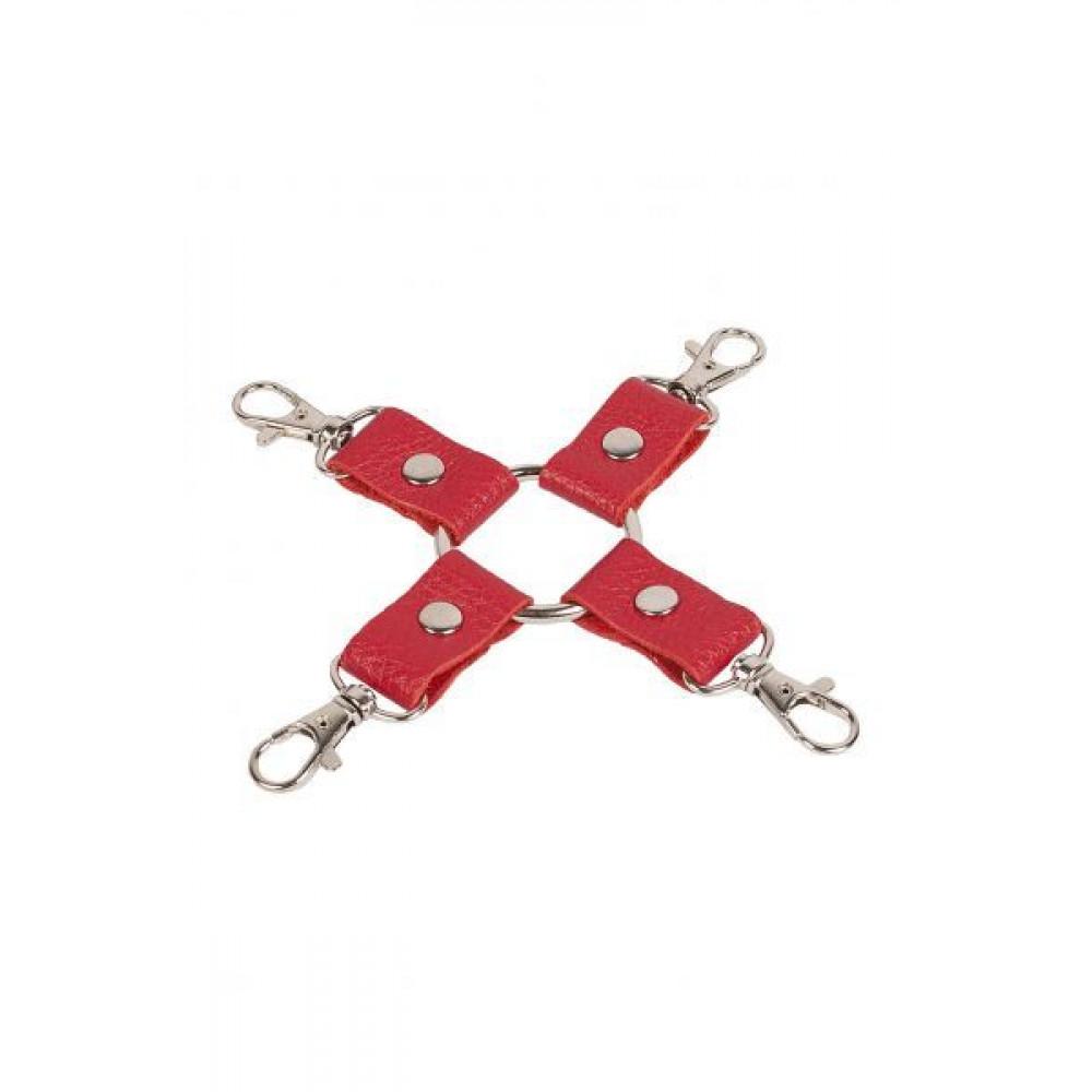 БДСМ наручники - Фиксатор Leather Fixer,RED