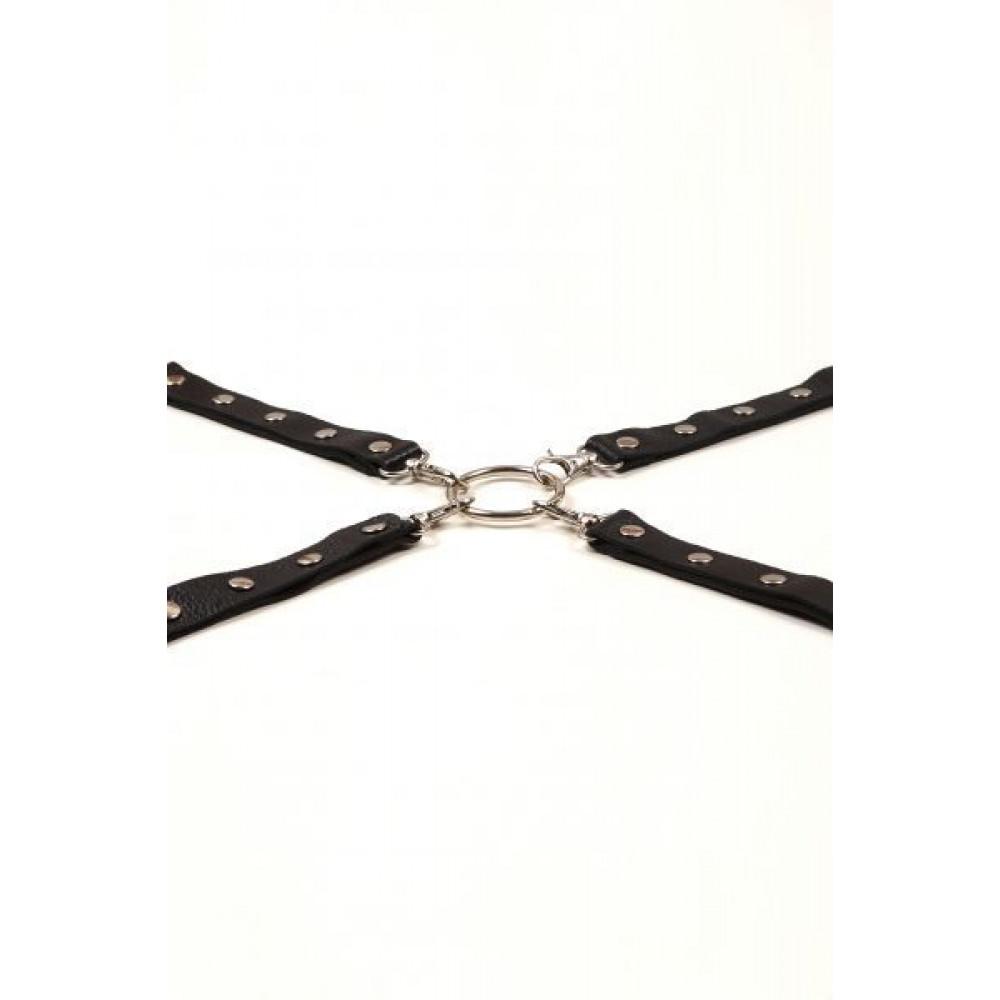 БДСМ наручники - Фиксатор Leather Fixer Large, BLACK 2