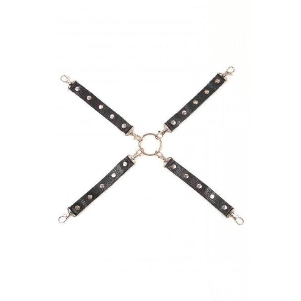 БДСМ наручники - Фиксатор Leather Fixer Large, BLACK
