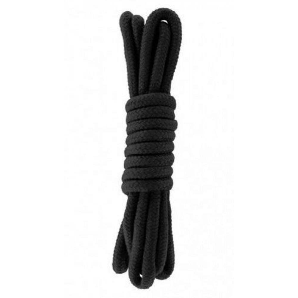 БДСМ наручники - Веревка для бондажа BONDAGE ROPE 3M BLACK