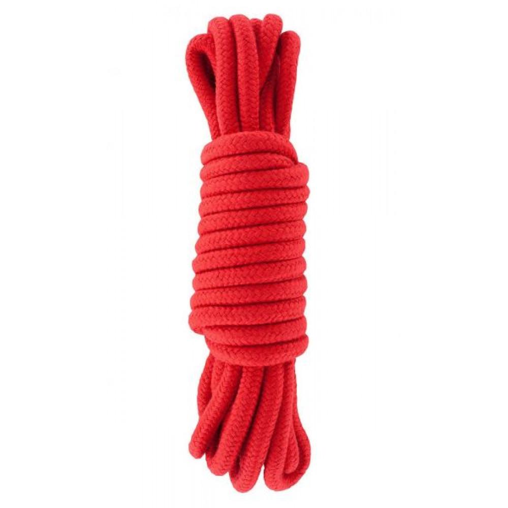 БДСМ наручники - Веревка для бондажа BONDAGE ROPE 5M RED