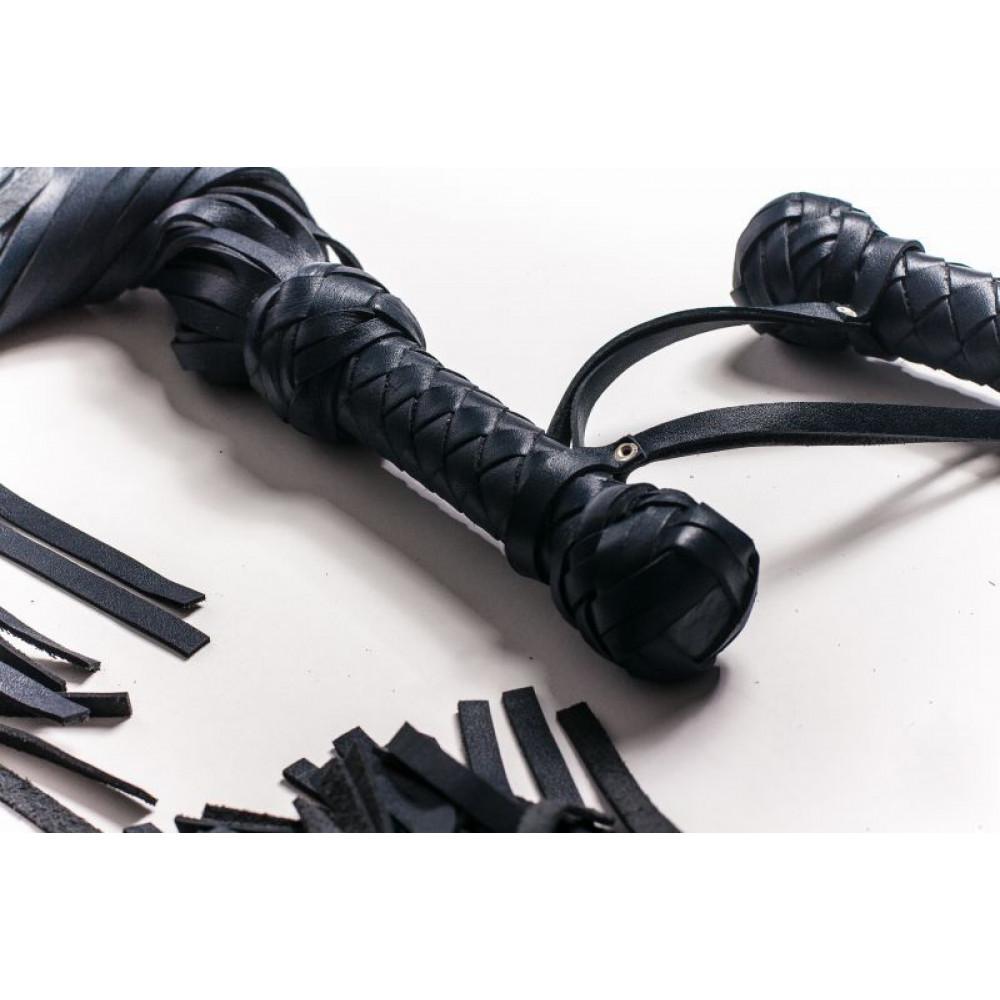 БДСМ плети, шлепалки, метелочки - Флогер Big Boss, BLACK 2