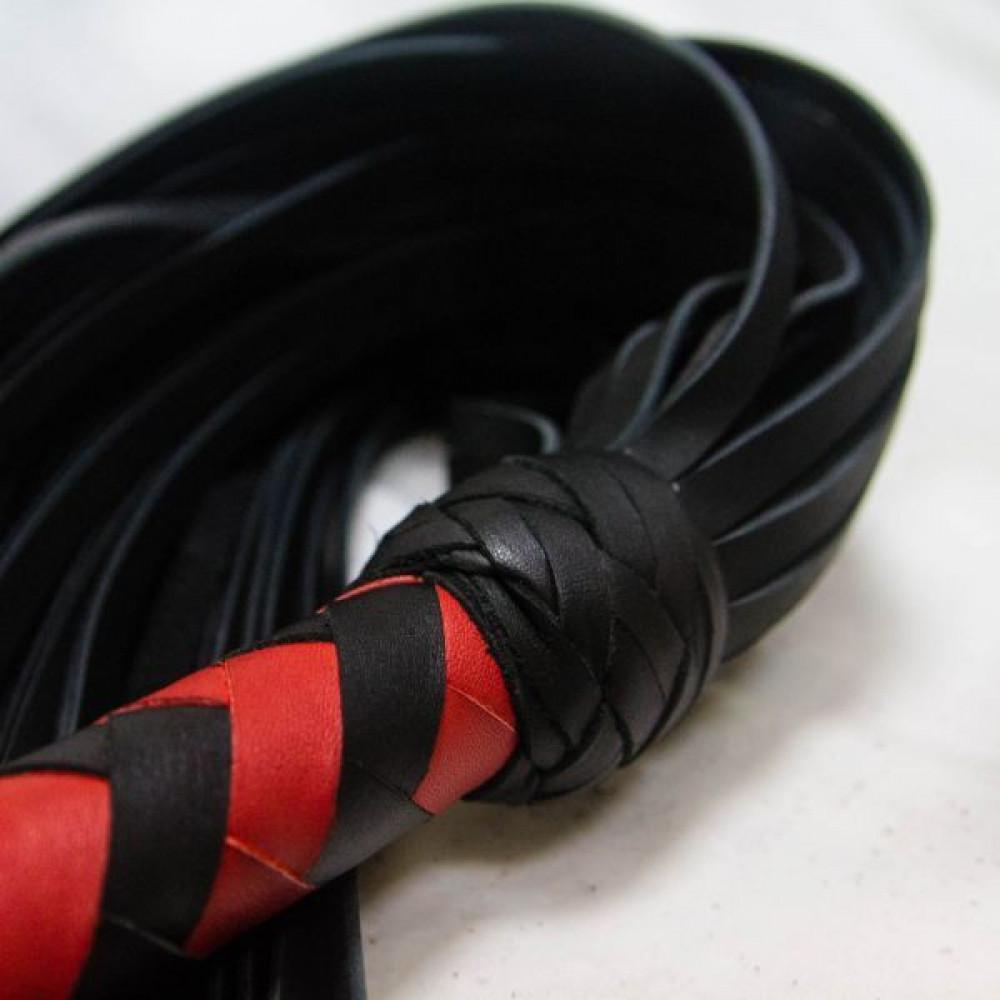 БДСМ плети, шлепалки, метелочки - Флогер Big Boss, BLACK/RED 2