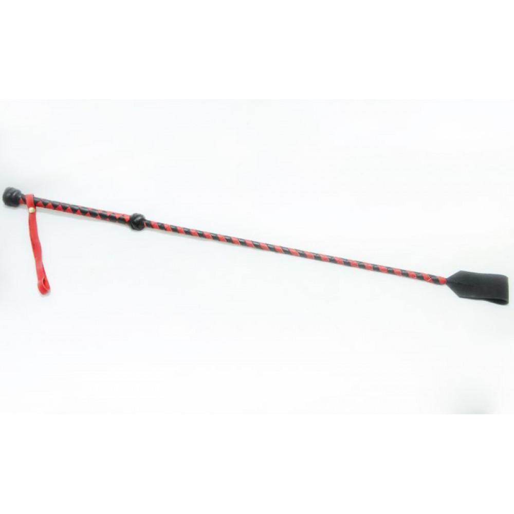 БДСМ плети, шлепалки, метелочки - Стек Hard Chop, BLACK/RED