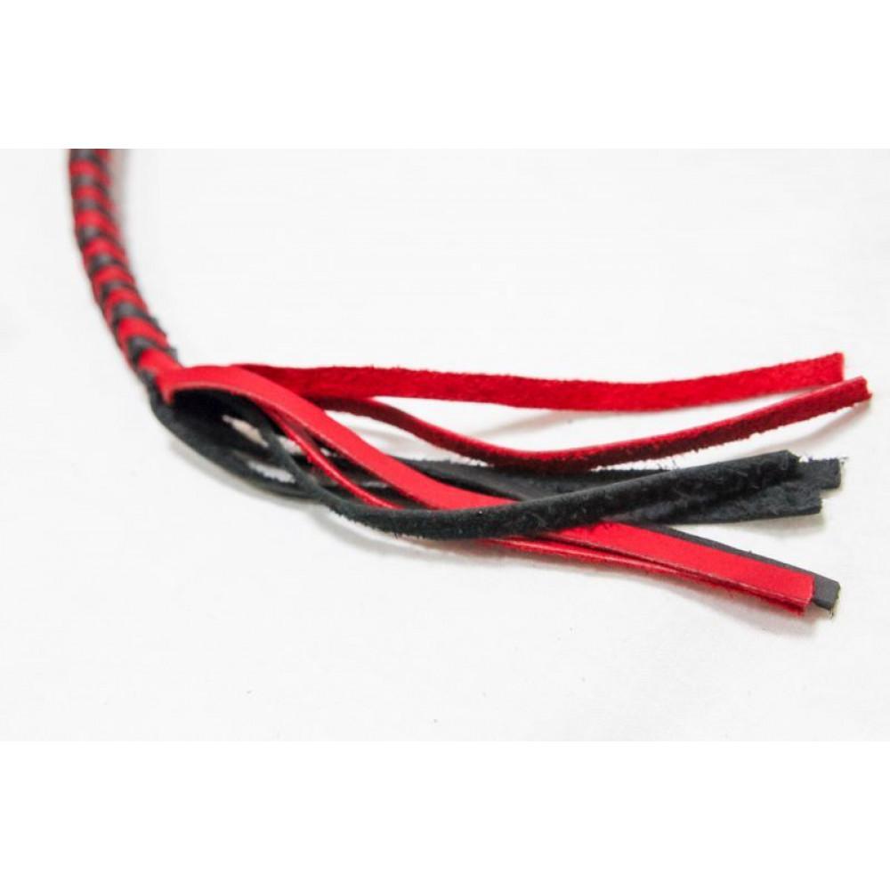БДСМ плети, шлепалки, метелочки - Плеть Viper Strike, BLACK/RED 2