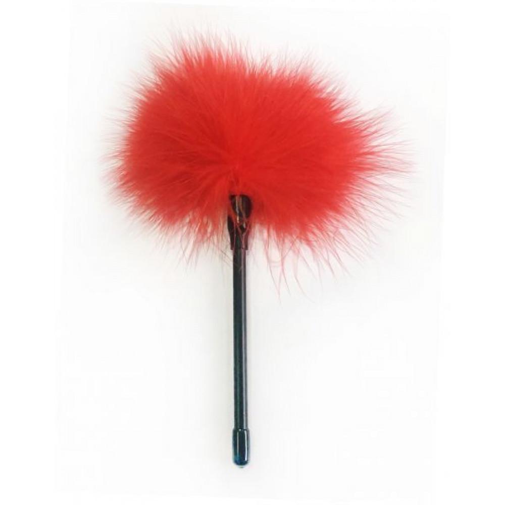 БДСМ плети, шлепалки, метелочки - Перышки для шалостей Feather Tickler, red