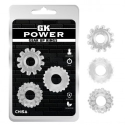 Набор колец GK Power Cock Rings 3 шт Set-Clear