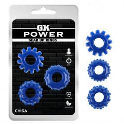 абор колец GK Power Cock Rings 3 шт Set-Blue