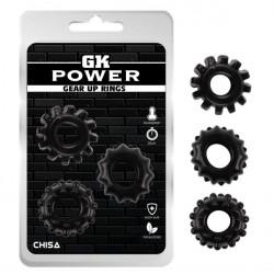 Набор колец GK Power Cock Rings Set 3 шт-Black