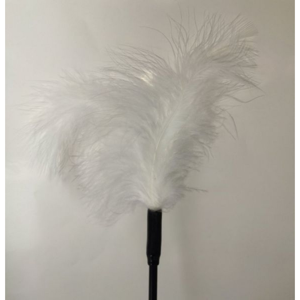 БДСМ плети, шлепалки, метелочки - Перышки для шалостей Long,White 1