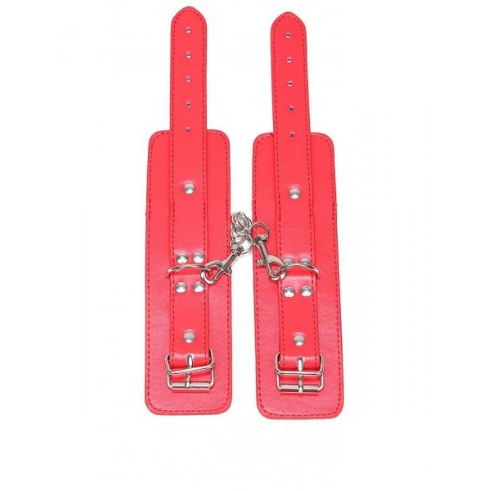 БДСМ наручники - Наручники BDSM Bondage Hundcuffs, Red 1