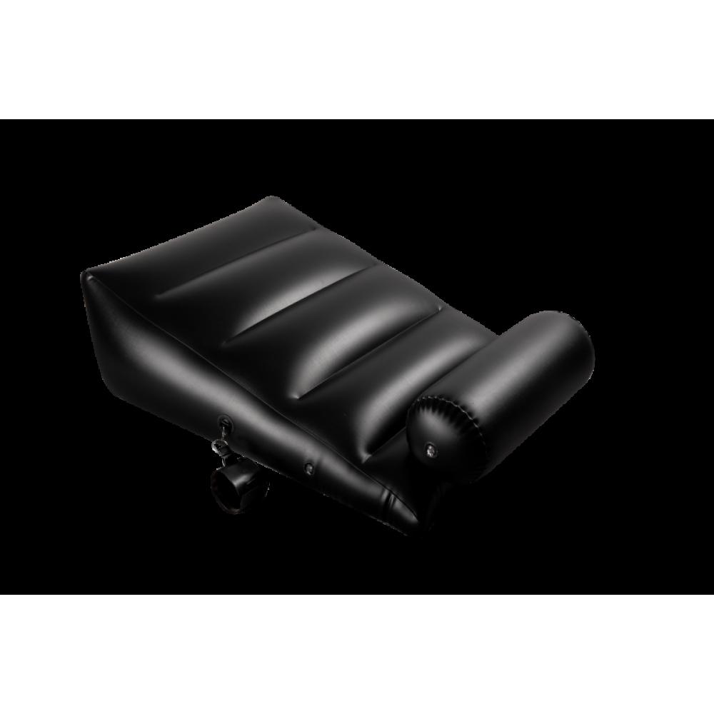 БДСМ аксессуары - Подушка для секса с 2 съемными манжетами DARK MAGIC RAMP WEDGE INFLATABLE CUSHION 1