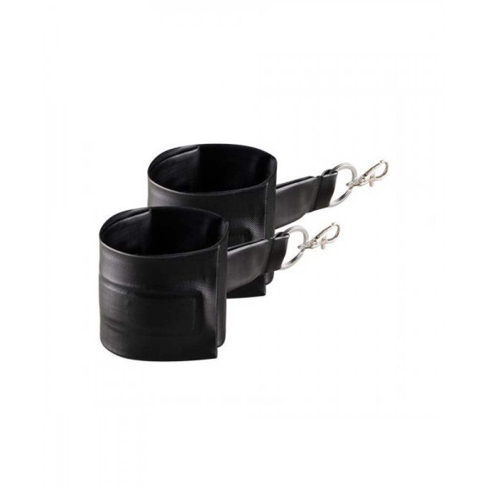 БДСМ аксессуары - Подушка для секса с 2 съемными манжетами DARK MAGIC RAMP WEDGE INFLATABLE CUSHION 2