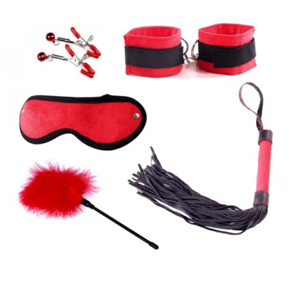 Наборы для БДСМ - Набор для БДСМ игр Delight Mini Set,  Black&Red