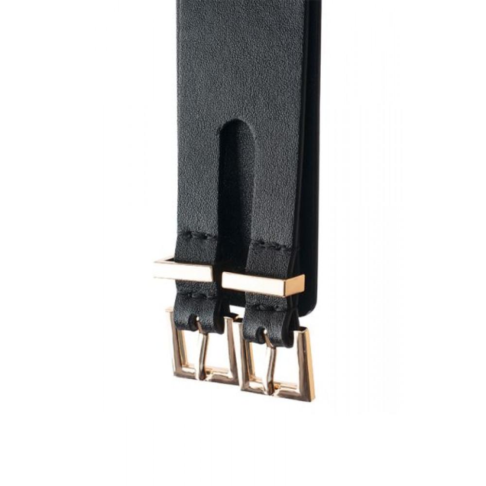 БДСМ наручники - Наручникииз веганской кожи GPPREMIUMHANDCUFFWITHHOOKBLACK 3