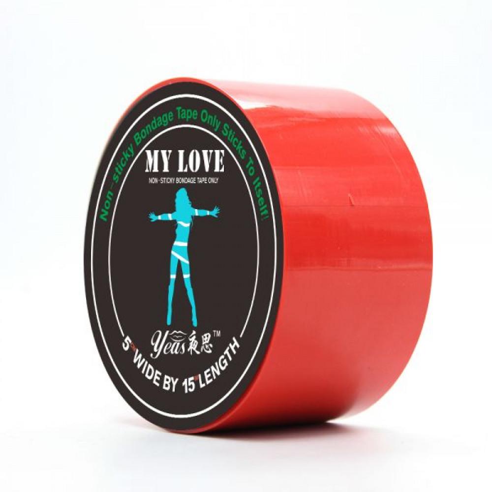 БДСМ наручники - ЛентабондажнаяMyLove Red 15м