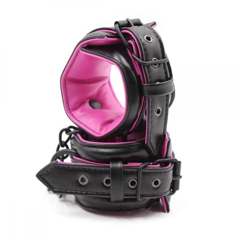 БДСМ наручники - Наручники мягкиеLuxury Fetish Black&Pink Hands 4