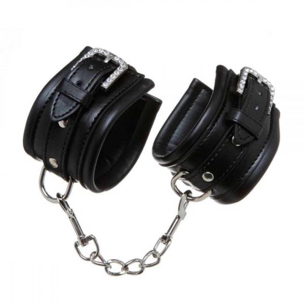 БДСМ наручники - Наручникисуплотнителем  Luxury Fetish Rivet and Style BLACK
