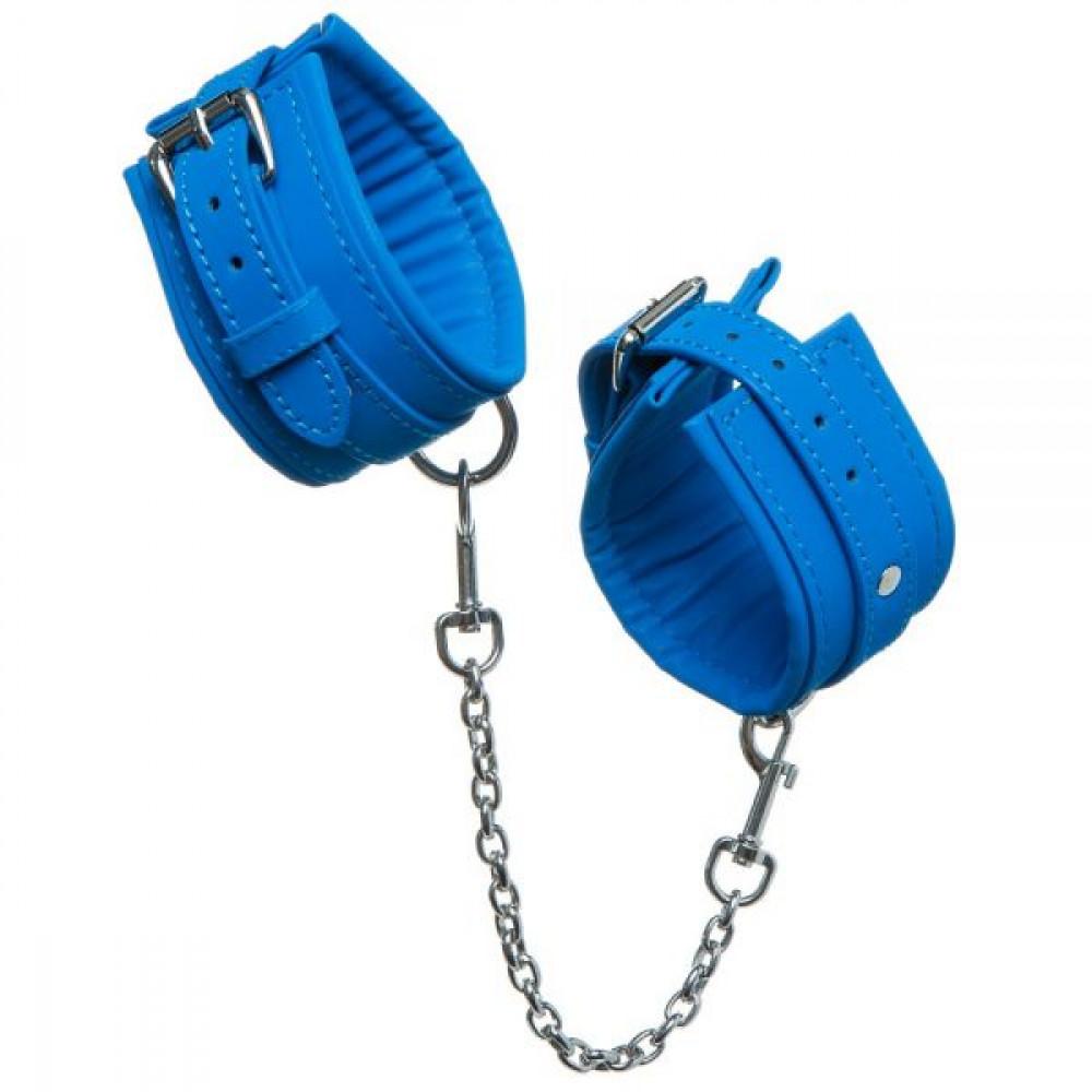 БДСМ наручники - НаручникиLuxury Fetish cuffs Deep Blue