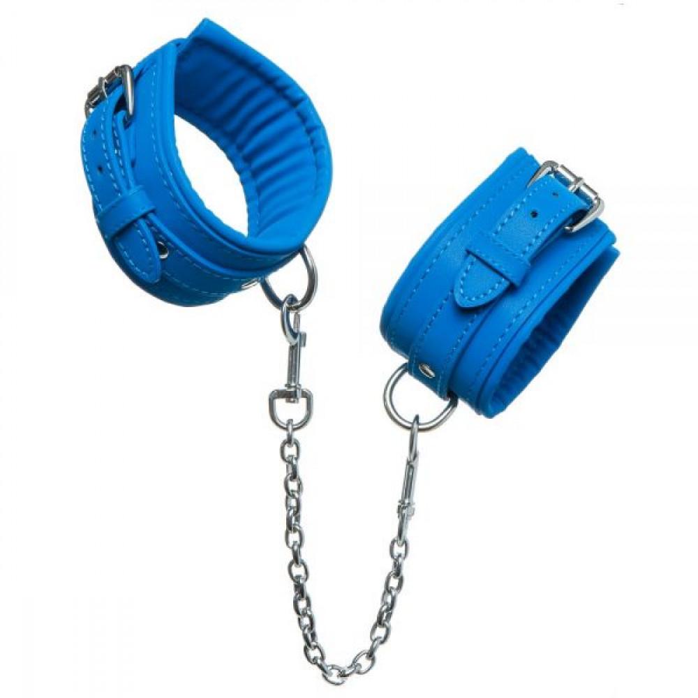 БДСМ наручники - НаручникиLuxury Fetish cuffs Deep Blue 3