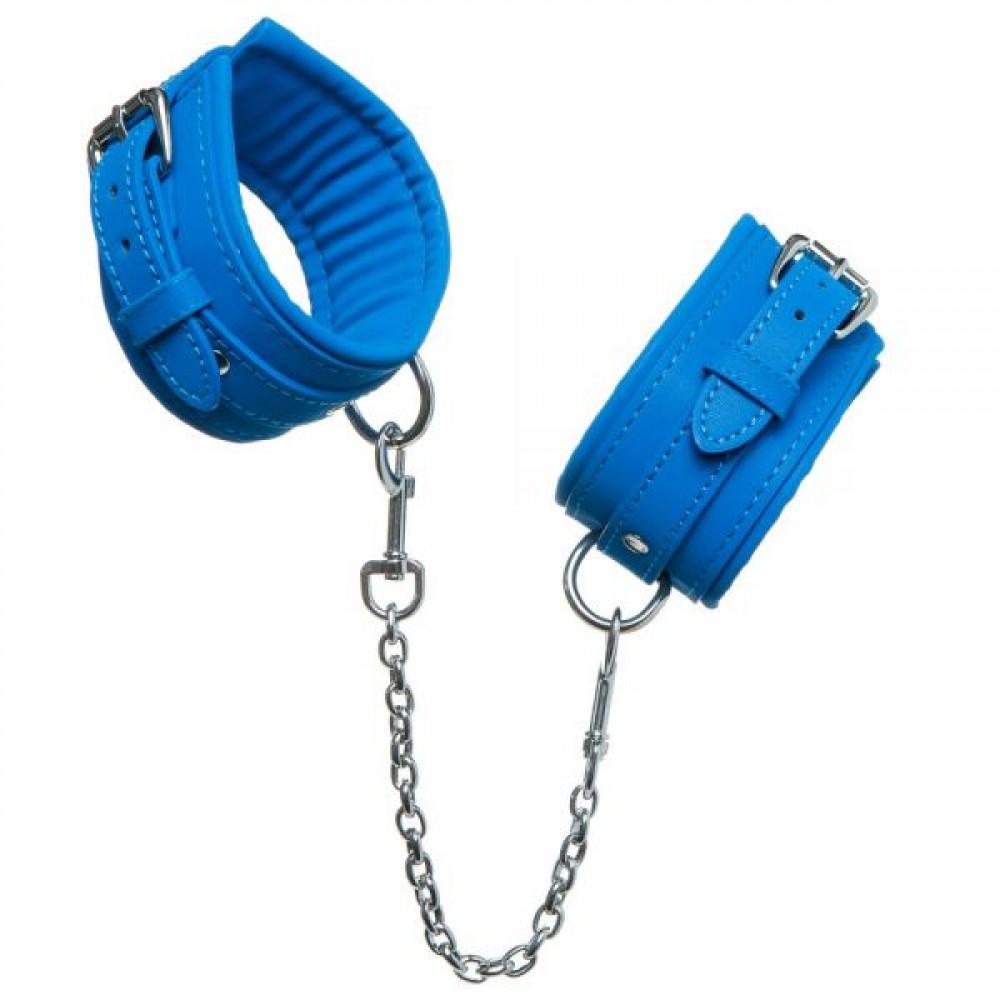 БДСМ наручники - НаручникиLuxury Fetish cuffs Deep Blue 2