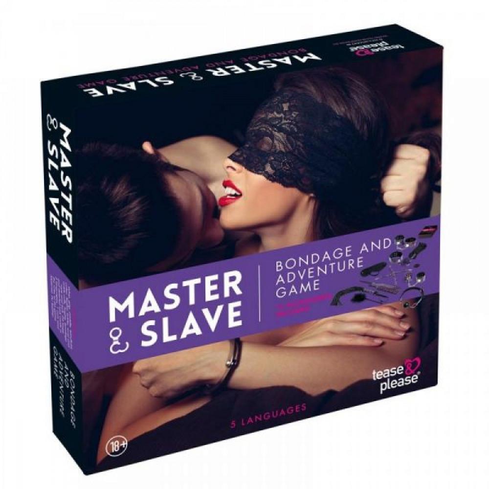 Наборы для БДСМ - Набор БДСМ  10 предметов Master & Slave, Purple Leopard 1