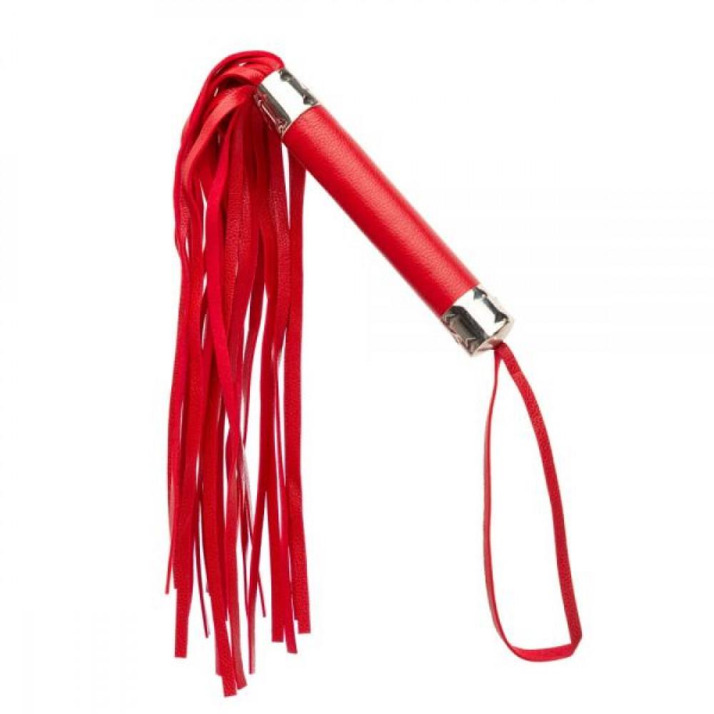 БДСМ плети, шлепалки, метелочки - Плетка из экокожи FLOGGER RED