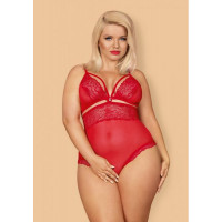 Боди Obsessive 838-TED-3 teddy opencrotch red XXL