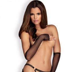 Митенки-перчатки из сеточки Darkie черные O/S
