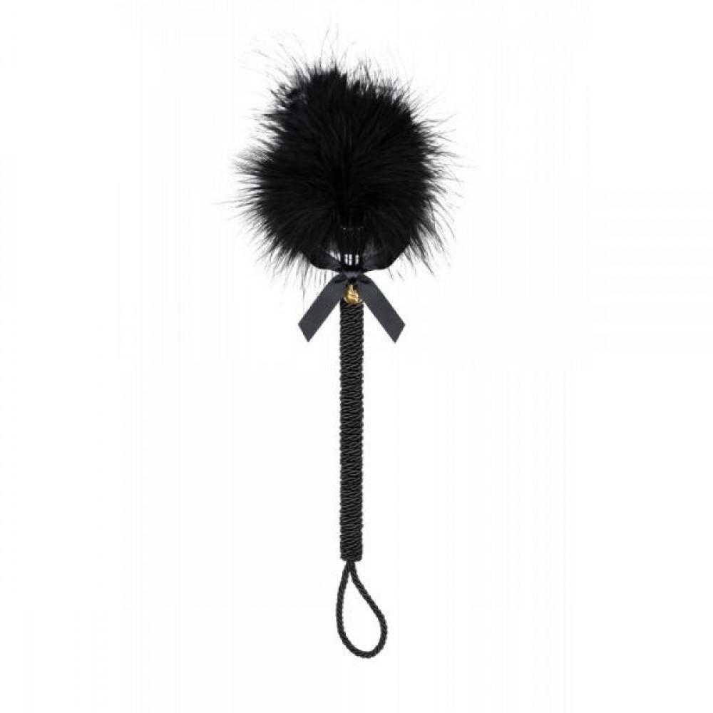 БДСМ плети, шлепалки, метелочки - ПушокнадлиннойручкечерныйObsessiveA720crop