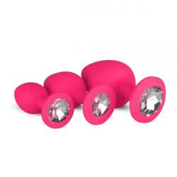 Набор анальных пробок Anal Diamond plug,  Pink