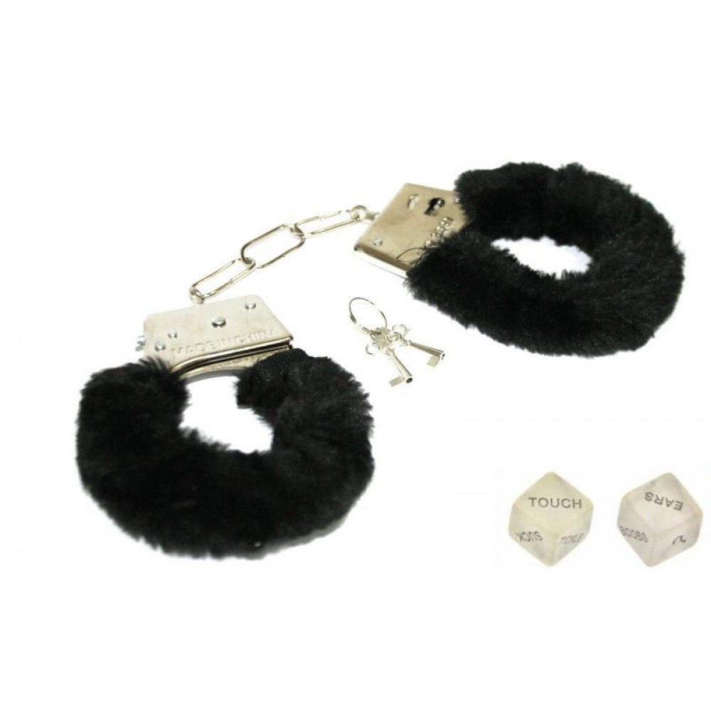 БДСМ наручники - Наручники с кубиками Naughty Nights, Black