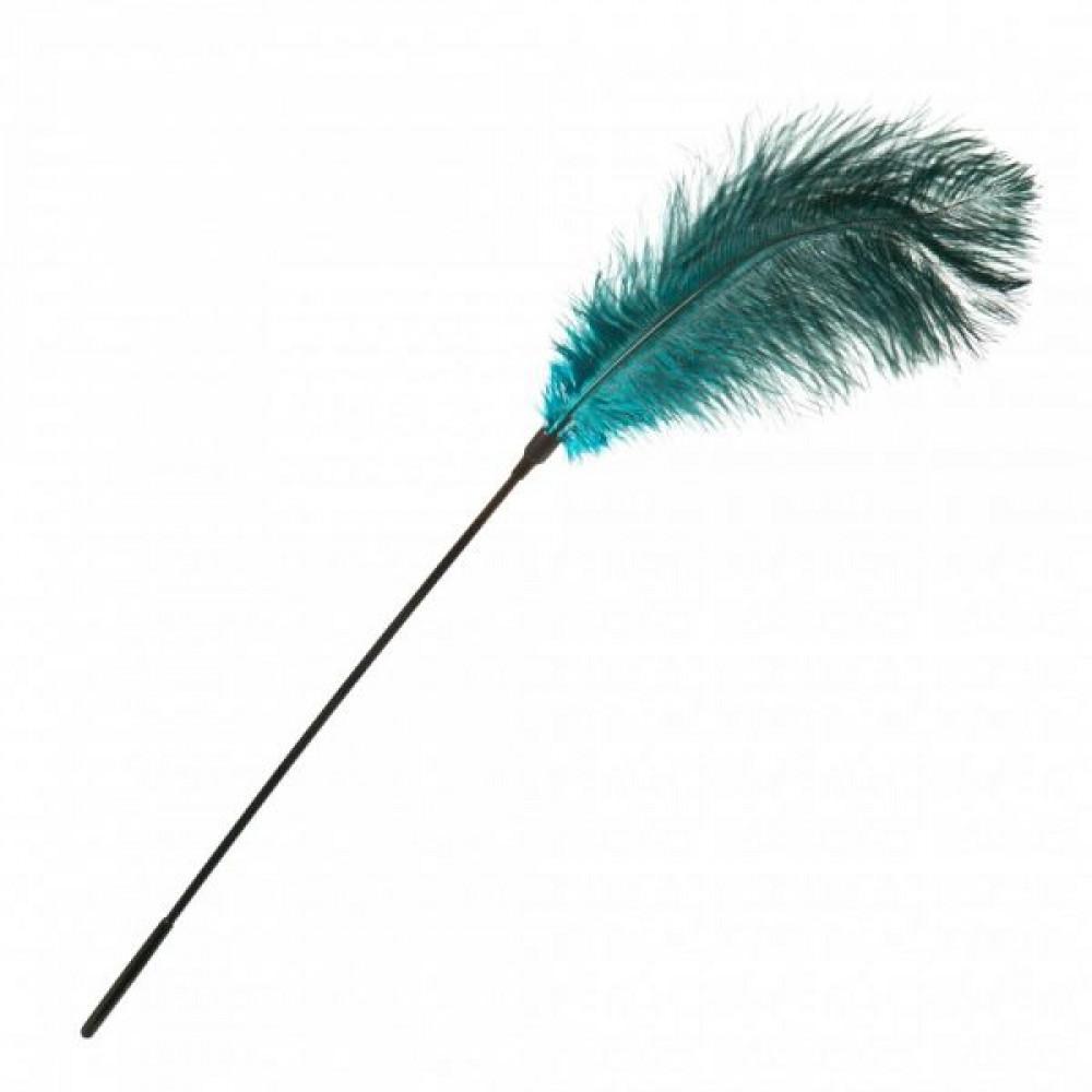 БДСМ плети, шлепалки, метелочки - Перо для Шалостей Big ,Green 1