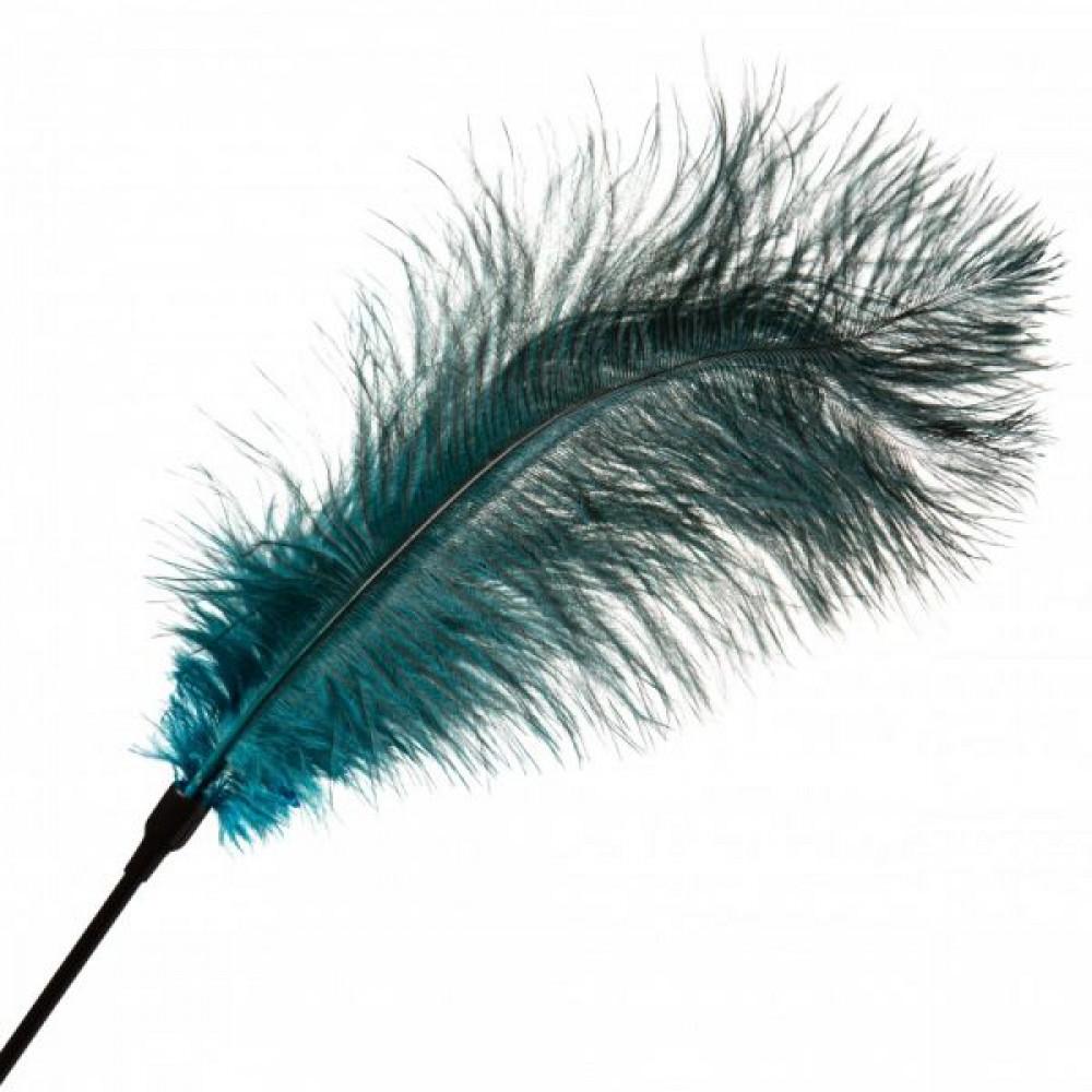 БДСМ плети, шлепалки, метелочки - Перо для Шалостей Big ,Green