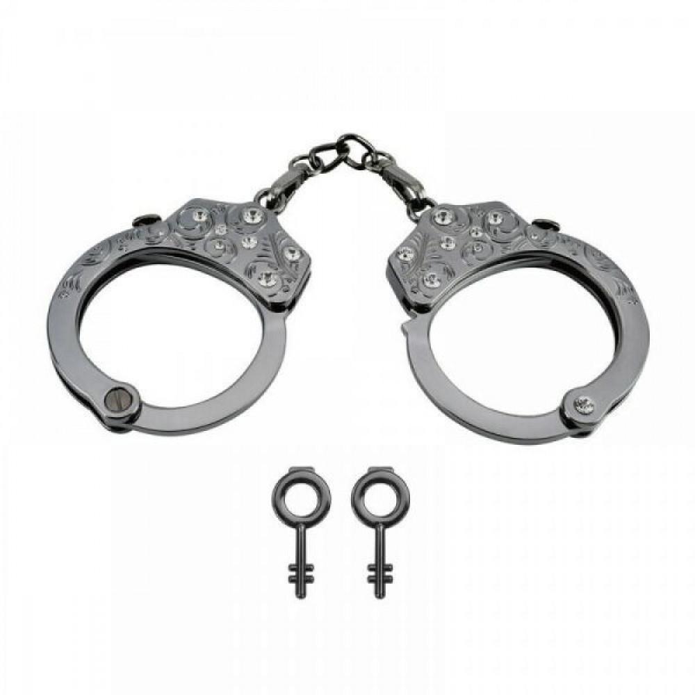 БДСМ наручники - Наручники Разборные Premium Metal Romfun, Diamond