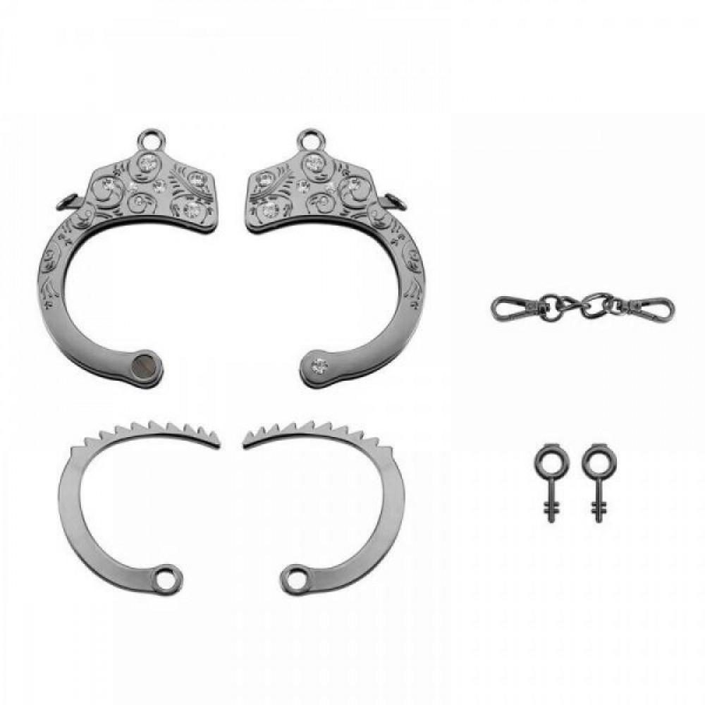 БДСМ наручники - Наручники Разборные Premium Metal Romfun, Diamond 4