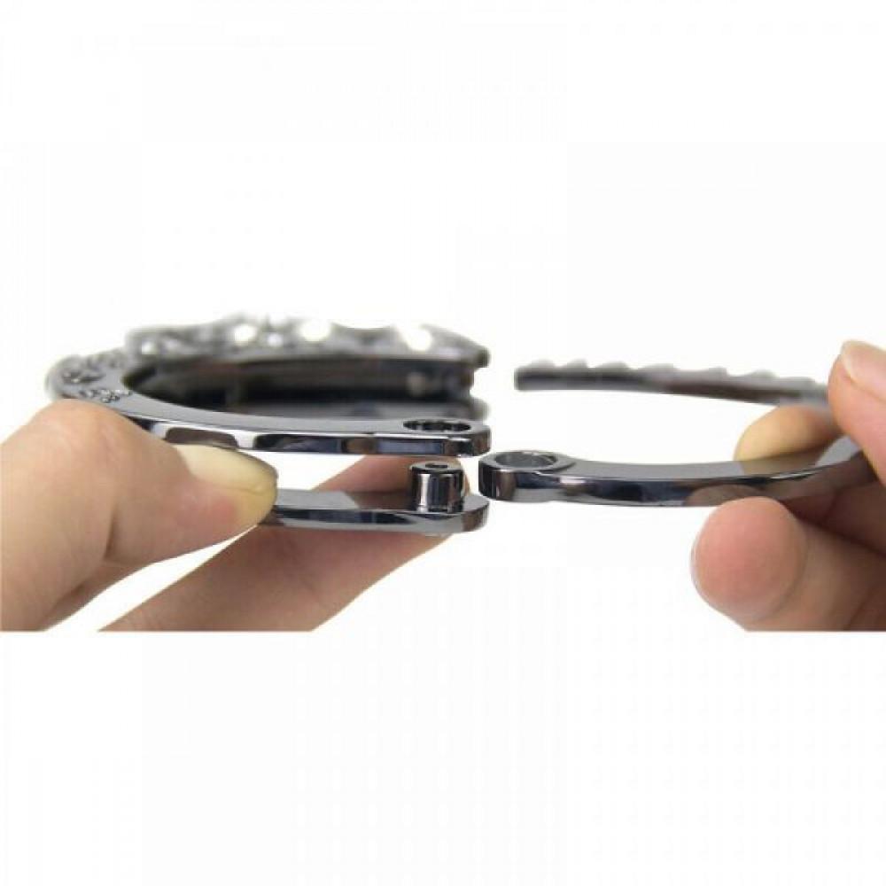 БДСМ наручники - Наручники Разборные Premium Metal Romfun, Diamond 2