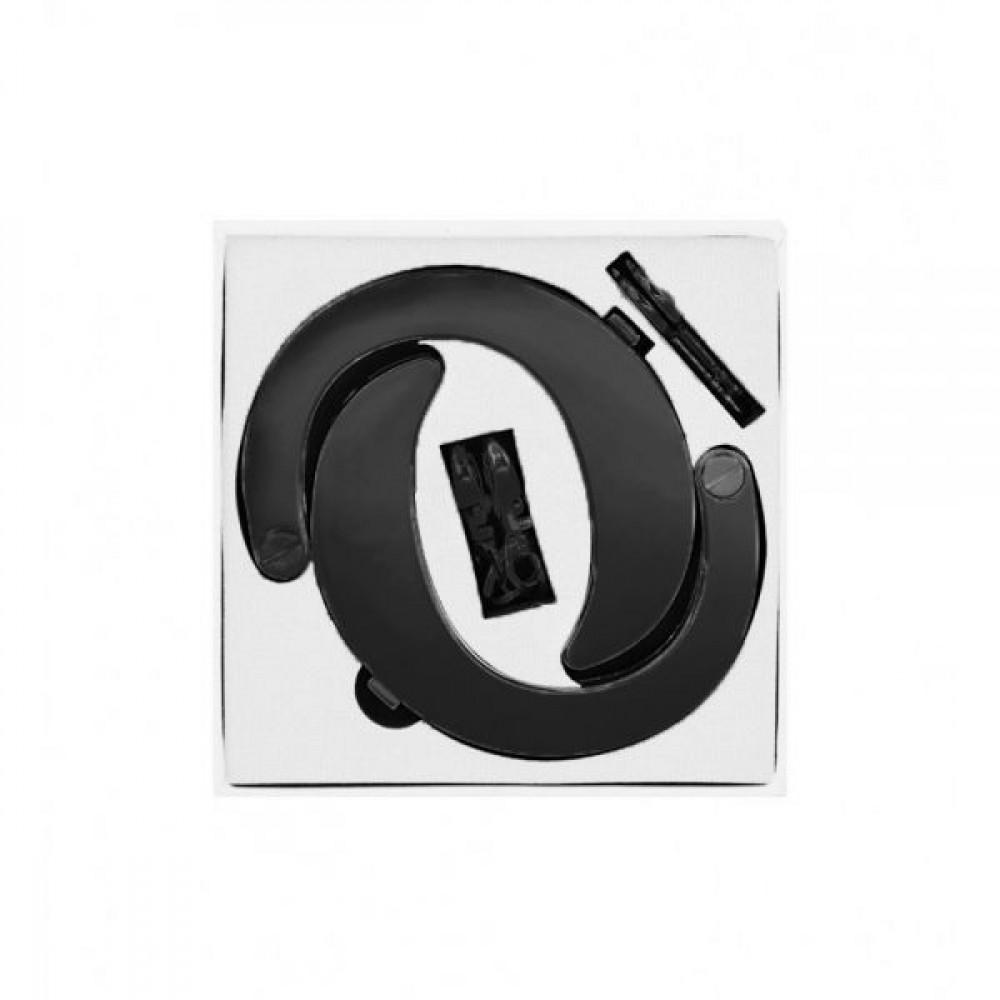 БДСМ наручники - Наручники Разборные Premium Metal Romfun, Matte Black 2
