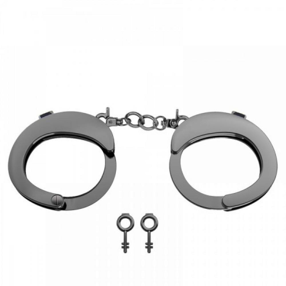 БДСМ наручники - Наручники Разборные Premium Metal  Romfun, Black
