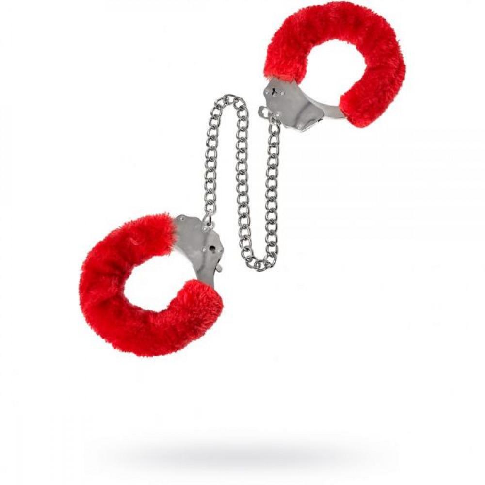 БДСМ наручники - Наручники Metal Ankle Cuffs , Red