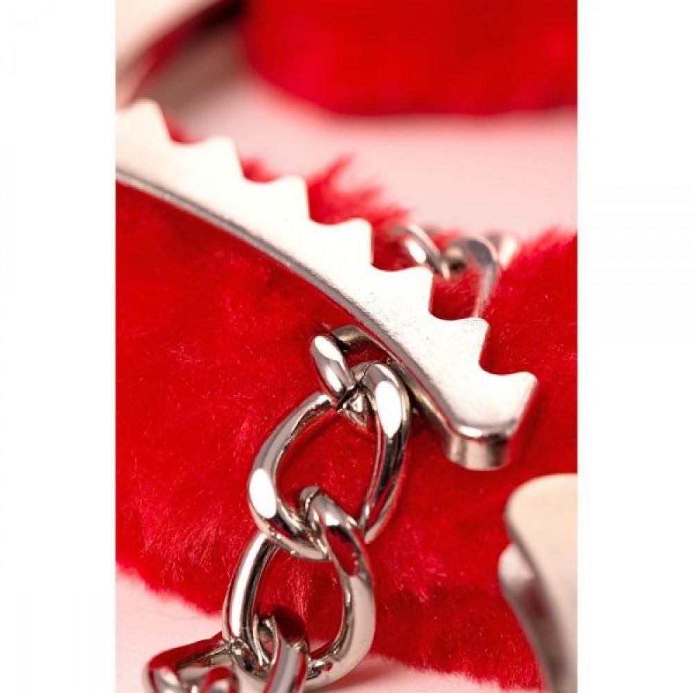 БДСМ наручники - Наручники Metal Ankle Cuffs , Red 3