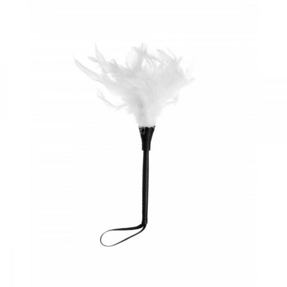БДСМ плети, шлепалки, метелочки - Метелочка для шалостей, White