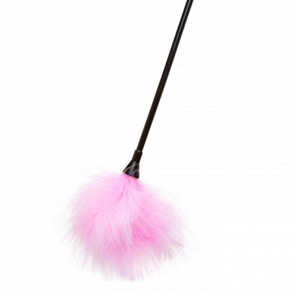 БДСМ плети, шлепалки, метелочки - Перышки для шалостей Diamond, Pink 2