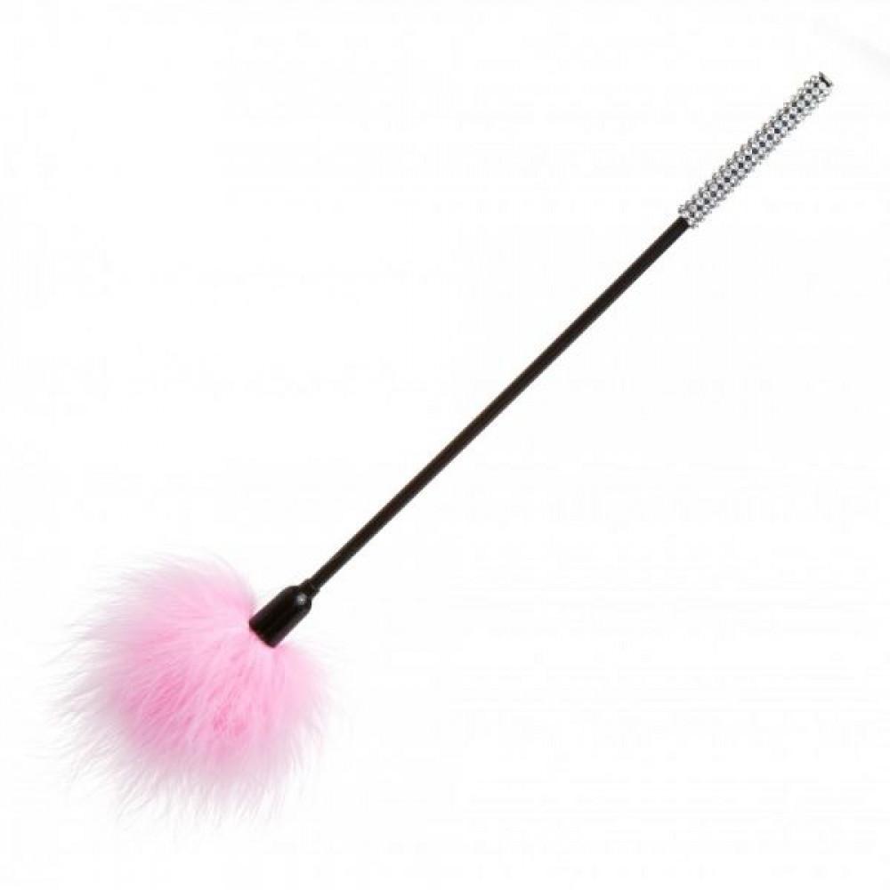 БДСМ плети, шлепалки, метелочки - Перышки для шалостей Diamond, Pink