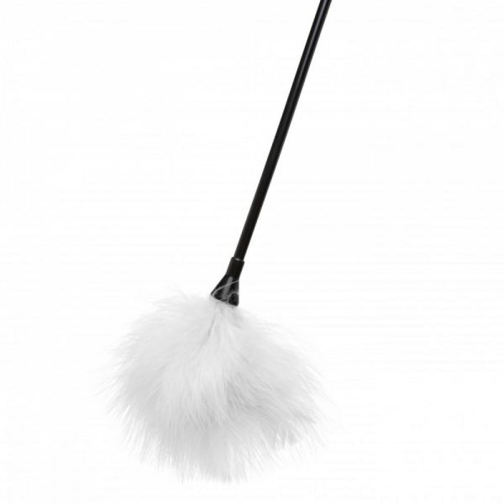 БДСМ плети, шлепалки, метелочки - Перышки для шалостей Diamond, White 2