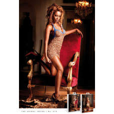 Пеньюар Leopard-Blue Lace Dress