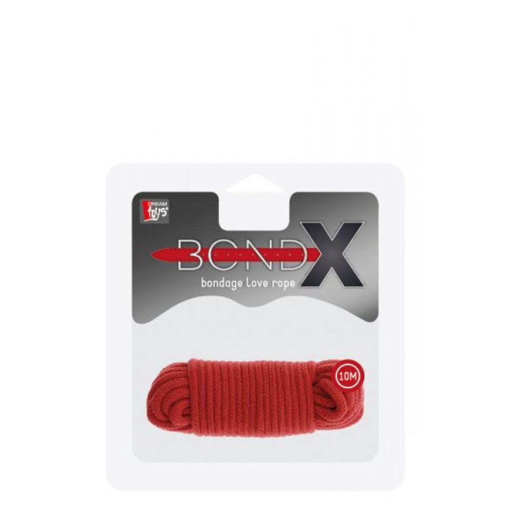 БДСМ наручники - Бондажная веревка BONDX LOVE ROPE - 10M, RED 1