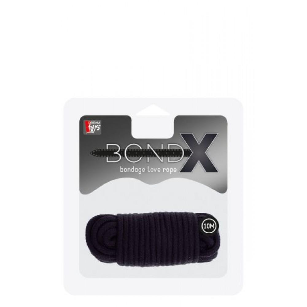 БДСМ наручники - Веревка для бондажа BONDX LOVE ROPE - 10M, BLACK 1