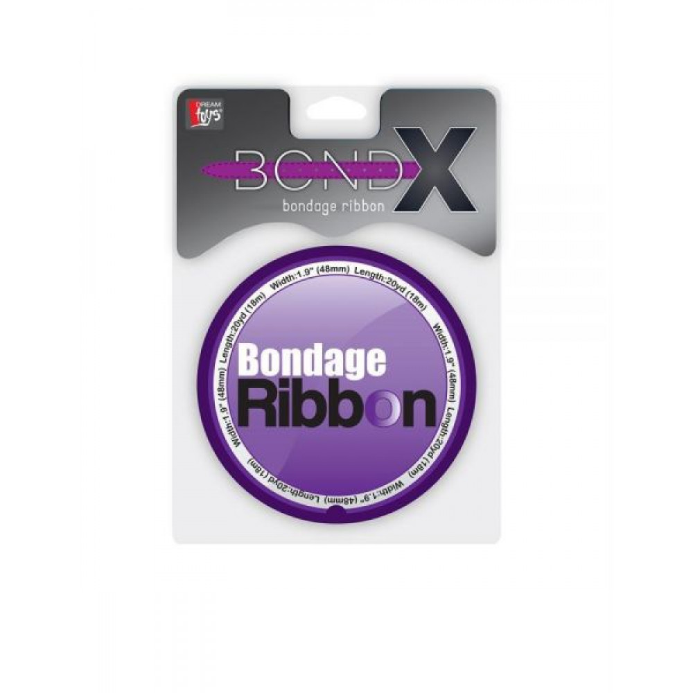 БДСМ аксессуары - Лента для бондажа BONDX BONDAGE RIBBON. PURPLE 1